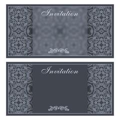 Elegant invitation card with flower pattern