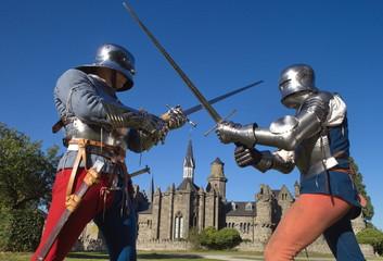 Ritter vor einer Burg