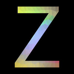 The letter Z with triangles.