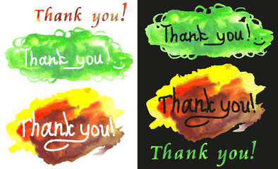 Thank you watercolors