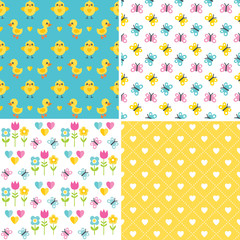cute seamless easter background patterns