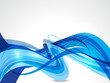 blue wave abstract background vecotr illustration
