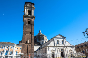 Turin Cathedral,Bell Tower and  Chapel of the Holy Shroud, Turin