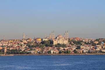 Blue mosque on Palace cape. Istanbul, Turkey