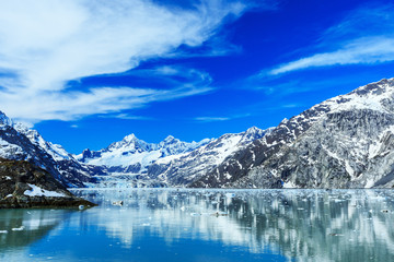 Panoramic view of Glacier Bay national Park. Alaska