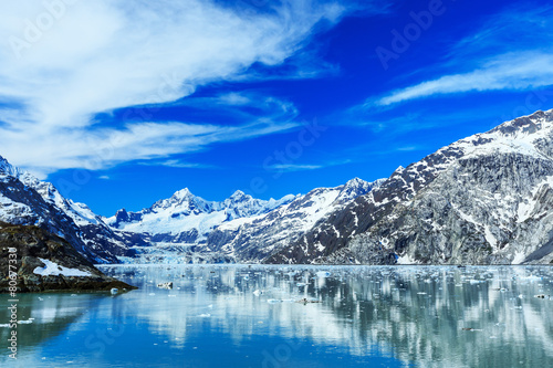 Foto op Canvas Gletsjers Panoramic view of Glacier Bay national Park. Alaska