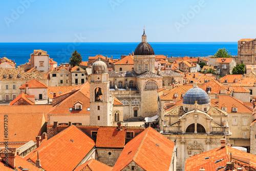 Foto op Canvas Vestingwerk Old town Dubrovnik, Croatia