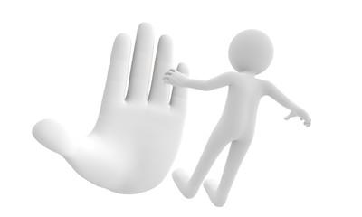 3d giant finger order small man