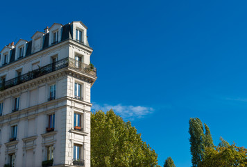 typical french apartment building