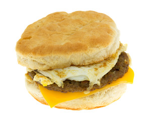 Breakfast Sandwich Isolated On A White Background