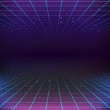 80s Retro Sci-Fi Background - 80678789