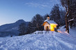 Leinwanddruck Bild - Chapel at Lockstein in Berchtesgaden, Germany.