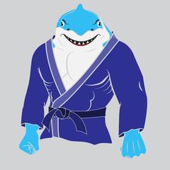 judo man  shark.
