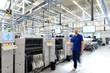 Leinwanddruck Bild - moderne Industrieanlage // High Tech Industrie