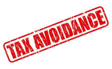TAX AVOIDANCE red Rubber Stamp