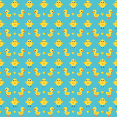 cute seamless easter background pattern