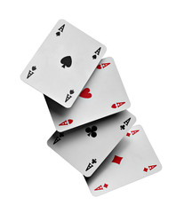 poker cards aces gambling game
