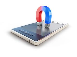 magnet mobile phone horseshoe