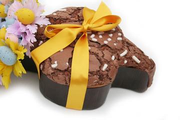 colomba al cioccolato con fiocco_ dolce di pasqua