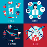 Medical flat concept with dentistry infographics - 80682727