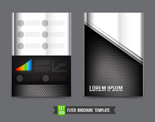 Flyer Brochure background template 0009 Technology concept metal