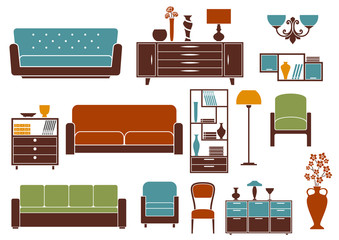 Flat furniture and interior accessories
