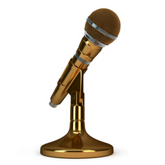 bronze microphone