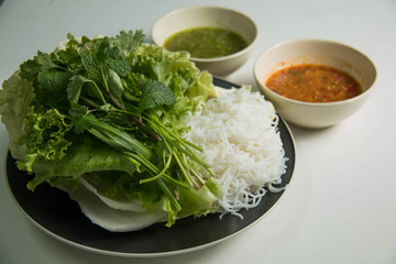 Thai spicy sauce with vegetables.