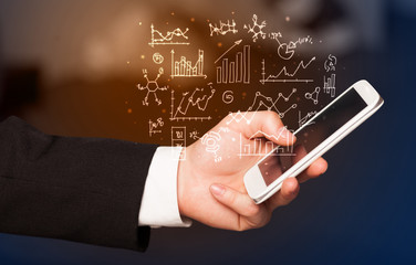 smartphone with business scheme