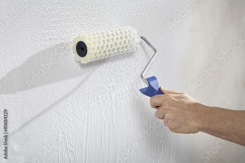 Leinwanddruck Bild Wände mit Farbe und Putz gestalten und Strukturieren