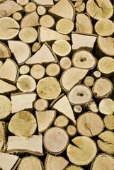 La legna impilata