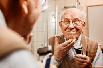 Senior in the bathroom