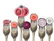 Vegetables and forks - 80685796