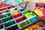 Brush with paintbox