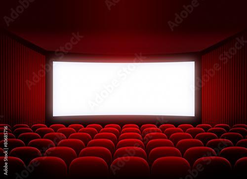 Papiers peints Opera, Theatre cinema screen in red audience