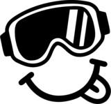 Fototapety Smiley Ski Goggles Tounge