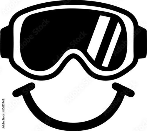 Ski Goggles Smiling