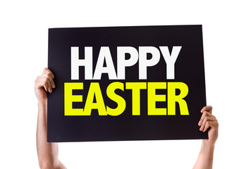 Happy Easter card isolated on white