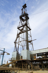 Loaded drilling rig