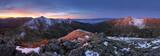 Fototapety Mountain sunrise landscape panorama, Slovakia