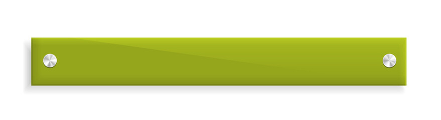 the glossy green banner
