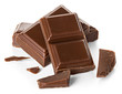 chocolate bars isolated on white background - 80687944