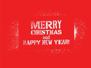 Typographic Graffiti Christmas Design. Vector Vintage Card.