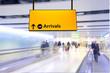 Leinwandbild Motiv Flight, arrival and departure board at the airport