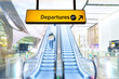 Flight, arrival and departure board at the airport - 80689395