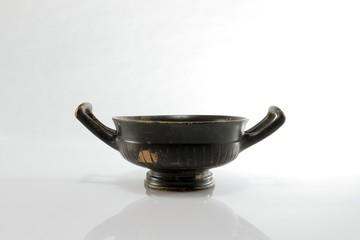 antike römisch griechische schale, kylix, kyathos, schwarz