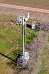 столб базовой станции сотовой связи, вид сверху