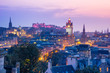 Edinburgh city from Calton Hill at night, Scotland, UK - 80690584