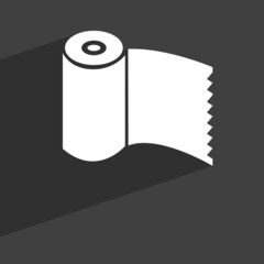 Toilet paper, WC roll icon symbol Flat modern web design with lo
