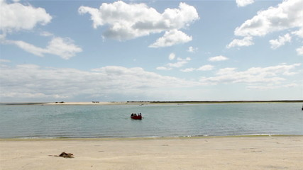 Timelapse at Olhão Port. Algarve. Portugal